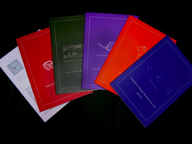 array of five books