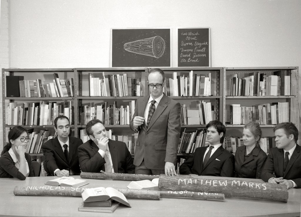 Meeting of the Board, Bill Burns, 2010 (after Brion Gysin, William Burroughs and Ian Sommerville, circa 1957)